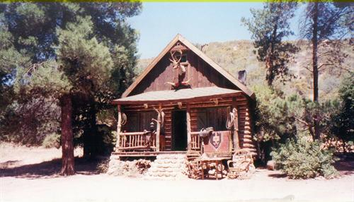 VELUZAT RANCH Log Cabin w/interior in forrest