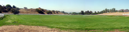 Soccer field wide shot