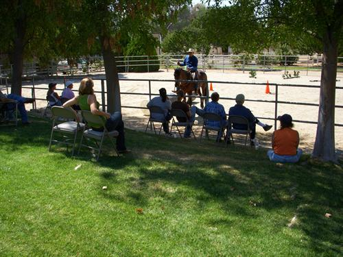 Horse event and spectators