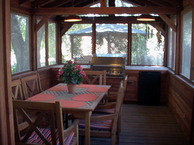 Harnage Ranch patio interior
